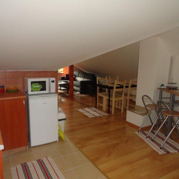 podkrovie obývačka a kuchyňa